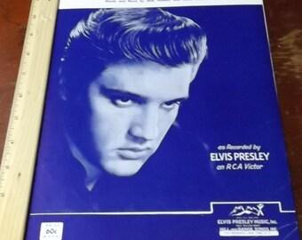 "Elvis Presley ""Surrender"" 1960 in sheet music collectible"