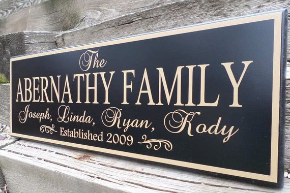 Personalized Family Established Wood Sign Last Name