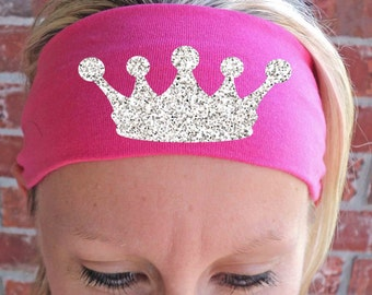 Princess Crown - Glitter Tiara - Fitness Headbands - Workout - Running - Weight Lifting - Hair Accessories