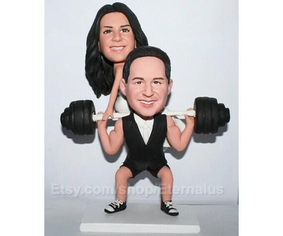 gteau de mariage personnalis topper topper gteau personnalis haltrophilie funny wedding cake topper - Figurine Mariage Personnalise