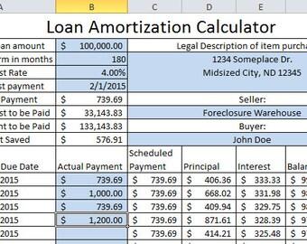 weekly loan amortization calculator excel