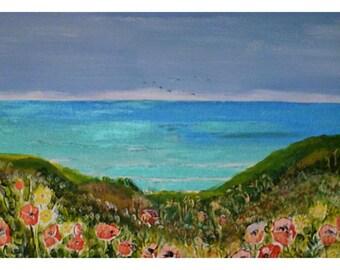 seascape,north cornwall coast and headland