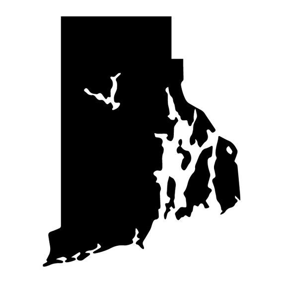 Rhode island state outline die cut decal car window wall request a custom order and have something made just for you sciox Image collections