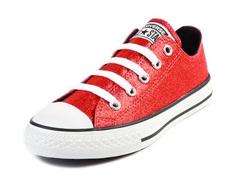 Converse custom converse all star converse red converse shoes canvas shoes bling converse glitter converse custom shoes high top low top