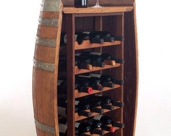 WINE RACK - Repurposed Wine Barrel