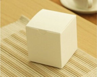 7.5*7.5*8cm White paper packaging boxes Candy/Gift/handmade soap packaging boxes