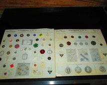 Vintage Salesman Sample Button Cards 1954 Rhinestones, glass, plastic B. Blumenthal Co. Inc Spring Summer Fall Winter