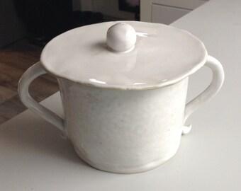 Lidded Kitchen Jar White