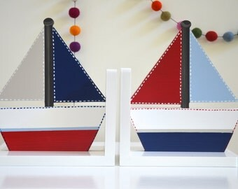 Bookends - Yacht Design,  Boys Bookends, Boat Bookends, Yacht Bookends, Nautical Bookends, Classic Boys Bookends, Children's Bookends