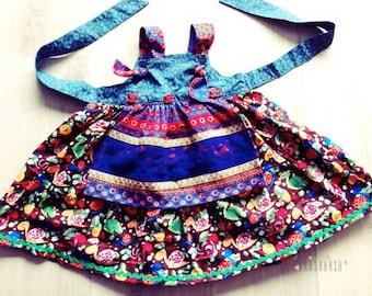 Matilda Jane Inspired Baby toddler Girl Apron Knot dress