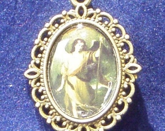 Saint Raphael Religious Medal, Patron saint against nightmares, insanity, of lovers, mentally ill, sheep keepers.
