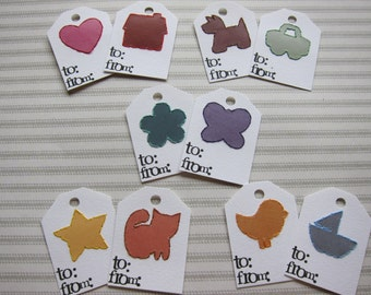 Set 2 - Stitched gift tags