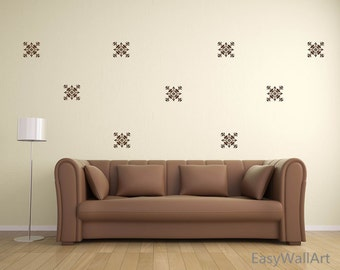 Damask Wall Decal - Damask Decal - Damask Wall Pattern - Damask Vinyl Wall Art Decor for Living room, Bedroom & Classic Damask Stickers #P37