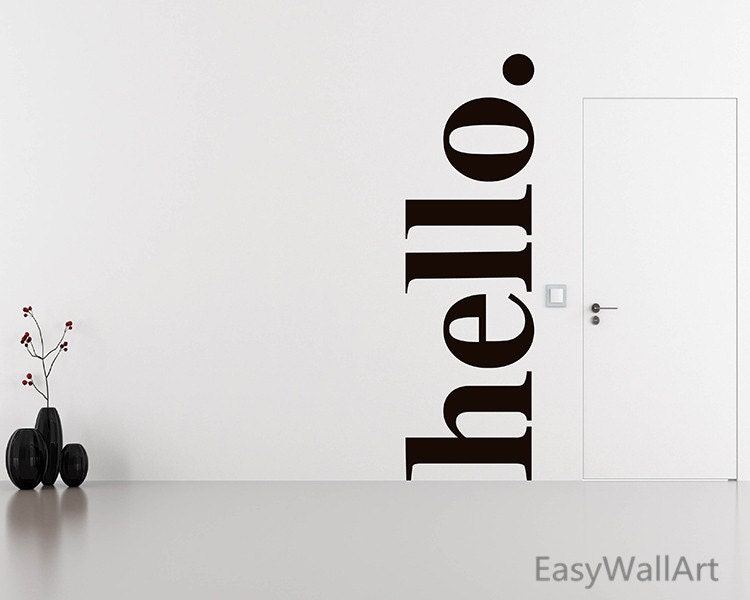 ?zoom & Hello Wall Decal Quotes Hello Door Decal Welcome Wall pezcame.com