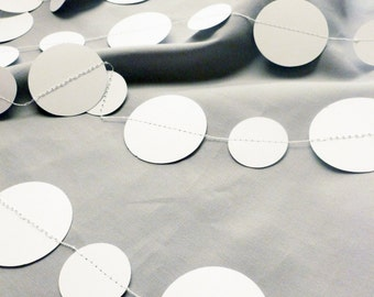 White Paper Garland | Home and Party Decor | White Garland | White Banner | White Party Decor