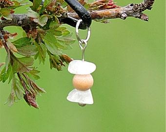 Romantic jewelry, rainbow moonstone necklace white stone jewelry healing stone pendant white romantic pendant natural moonstone jewelry awin