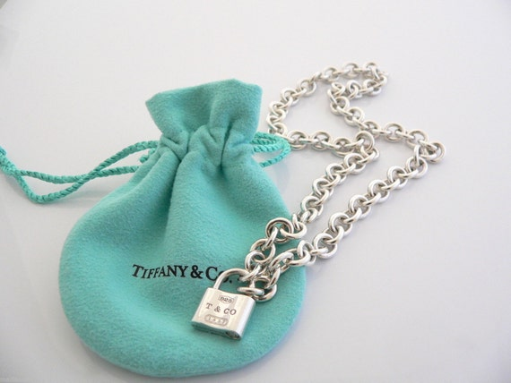 Tiffany Amp Co 1837 Padlock Lock Charm Necklace Pendant 16 25 In