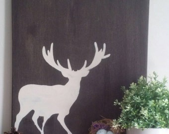 Deer Artwork, Gift For Hunter, Rustic Deer Decor