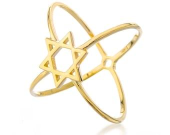 Star of david ring, jewish star, gold ring, jewish ring, jeweish symbol, jewish jewelry, Magen David ring, Kabbalah jewelry