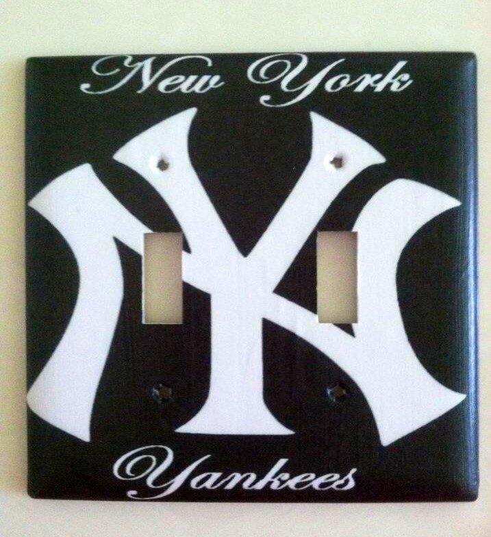 New York Yankees Home Decor: New York Yankees Light Switch Plate Cover Home Decor Choose
