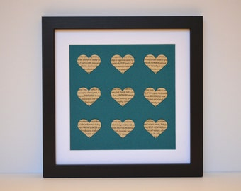 Scripture Wall Decor- Galatians 5, Fruit of the Spirit, Bible Verse Art, Teal and Tan Decor, Teal and Brown, Love Joy Peace Framed Scripture