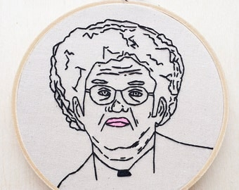 Dr. Steve Brule Check It Out Tim and Eric Hand Embroidery Hoop Art TV Channel 5 Hoop Eric Wareheim Tim Heidecker Hand Embroidery Adult Swim
