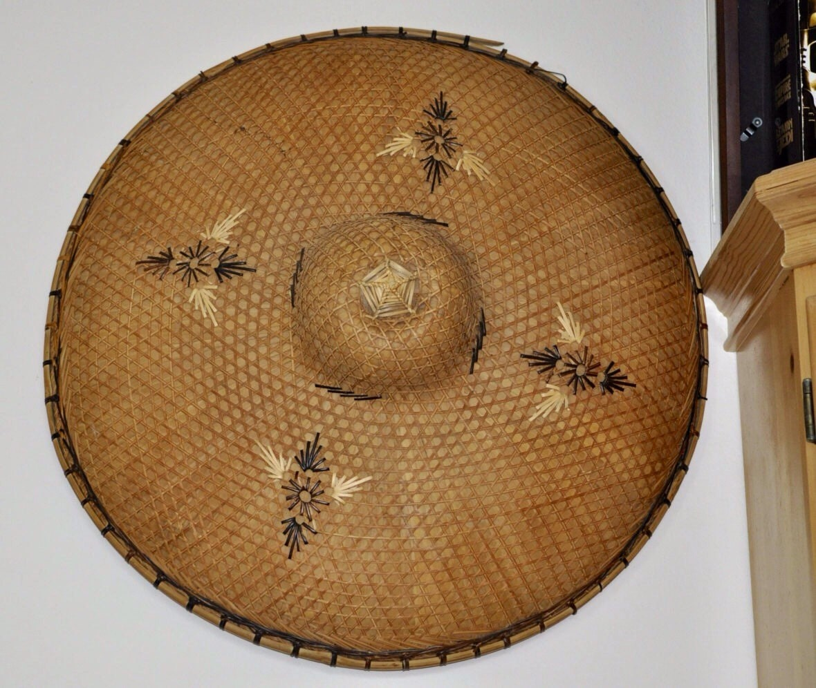 Coolie Hat: Asian Rice Coolie Hat Large Decorative Hat By