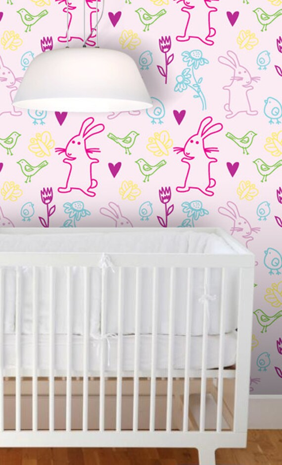 removable wallpaper woodland nursery nursery by