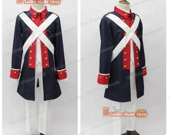 Axis Powers APH America Uniform Revolutionary War Cosplay Costume
