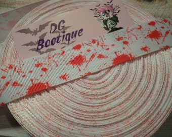 Blood Splatter Grosgrain Ribbon