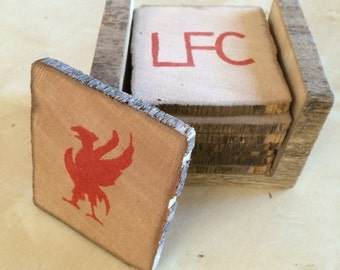 Liverpool FC Reclaimed Wood Coaster Set