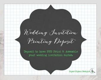 Deposit For Wedding Invitation Printing - Wedding Printing - Deposit On Weddinging Invitations - Wedding Printing - Wedding Invitations