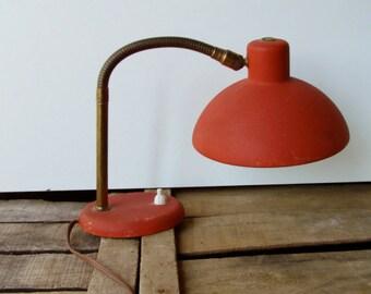 Vintage gooseneck desk lamp mid century 60s