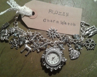 Frozen inspired Charm Bracelet Watch