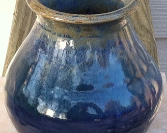 Blue, Green & Cream Colored Vase