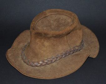 WINFIELD COVER Co. #31 Leather Hat L LARGE vintage Handmade In San Francisco cowboy Rare western