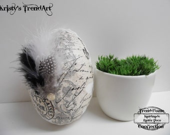 Shabby Chic Easter egg, Easter decor