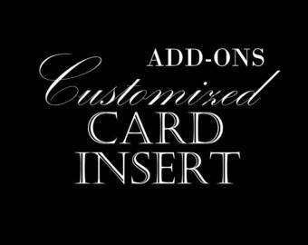 Add-On: Customized Card Insert