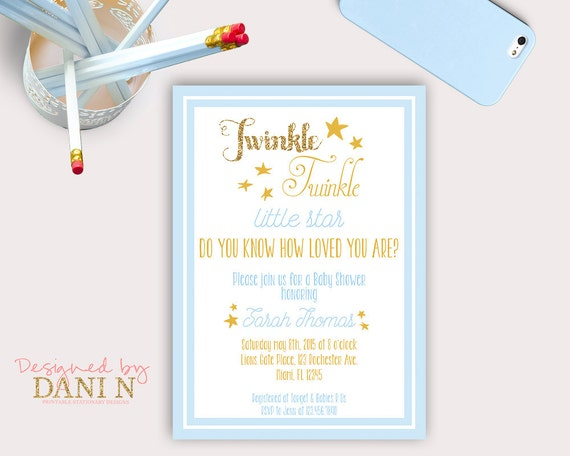 Twinkle little star baby shower invite baby boy star invitation il570xn filmwisefo