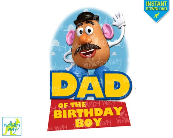 Boy Toys For Dads : Toy story dad of birthday boy printable iron on transfer or as