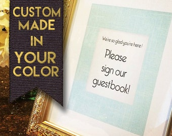 Suite of Wedding Signs- In Your Custom Color- Ladies' Room, Mens' Room, Gifts & Cards, Guestbook, Reserved Signs- Download or Have Mailed