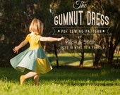 Gumnut Dress - Girls dress PDF sewing pattern - Circle Skirt Twirling Play Dress - Instant Download - Sizes 18m - 8 years