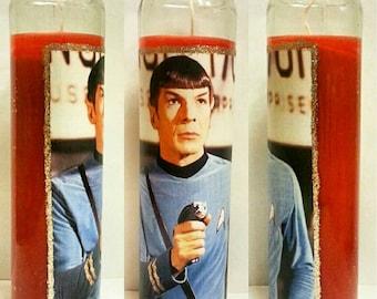 Leonard Nimoy Spock Candle