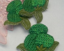 1 Piece Green Plum Applique Fruit Patch Sew On
