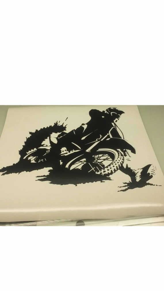 Dirt bike wall vinyl by jankosvinylworks on etsy for Dirt bike wall mural