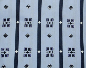 Abstract Geometric Blue Fabric   Geometric Fabric   Fat Quarter