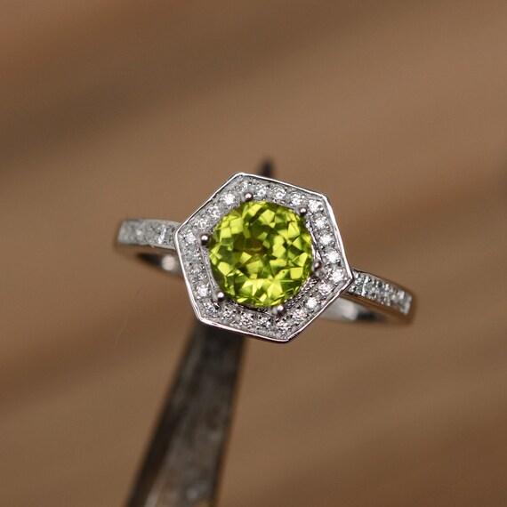 natural peridot ring gemstone ring wedding ring promise ring. Black Bedroom Furniture Sets. Home Design Ideas