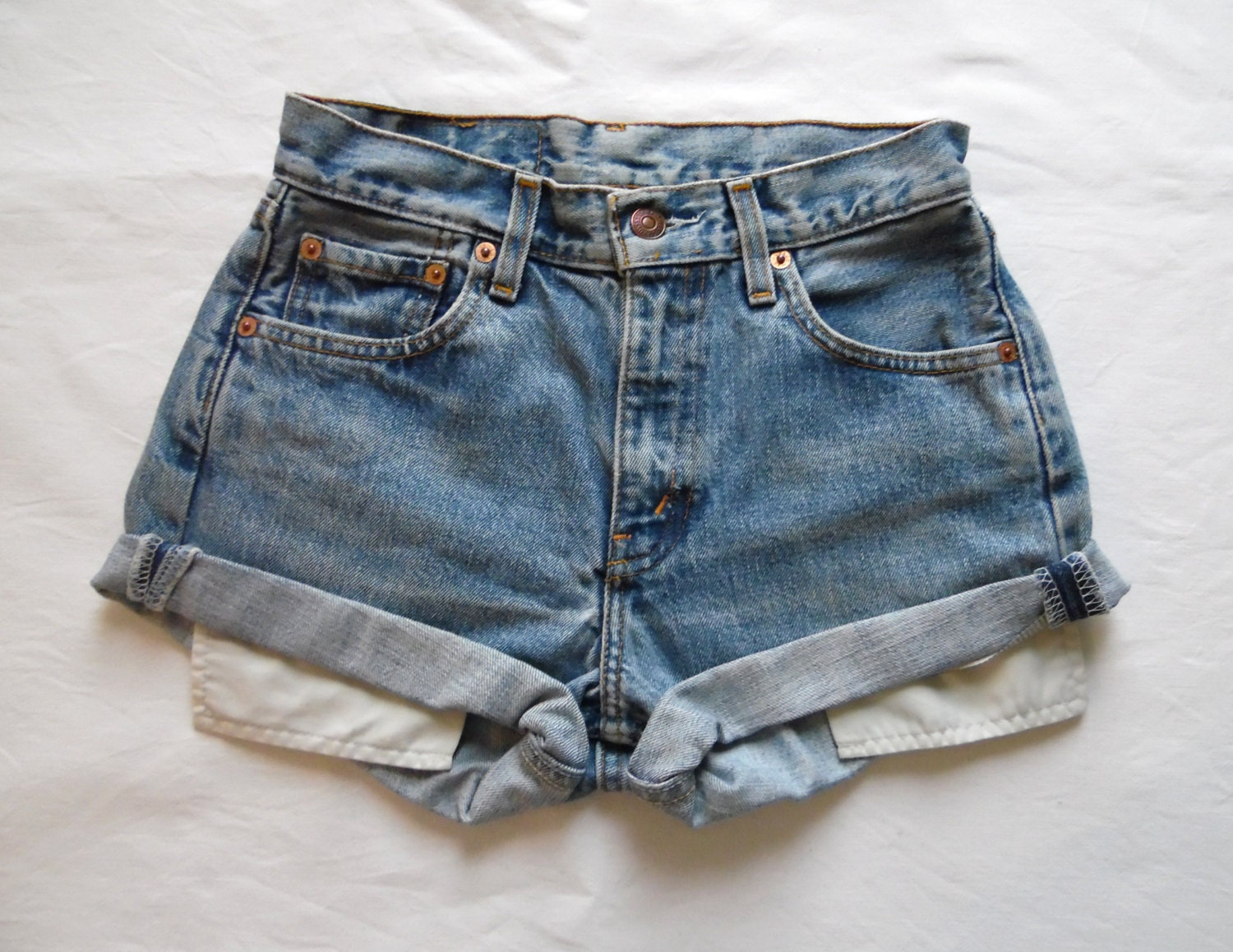 High waisted denim shorts vintage Levis 505 blue jean shorts