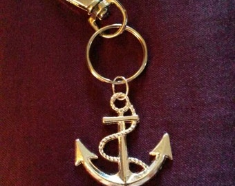 "Handmade nautical keyring (""antique silver"")"