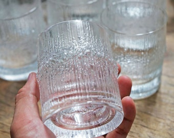 Finnish Iittala crystal glass designed by Tapio Wirkkala
